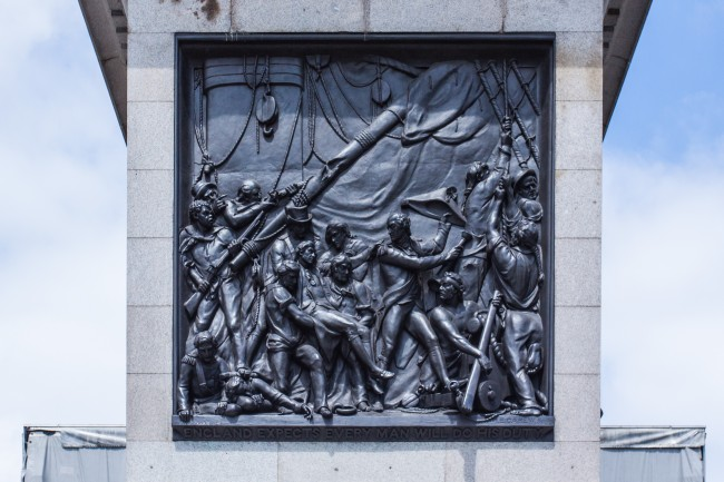 Nelson's Column 刻有 England Expects that every man will do his duty
